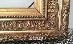 Authentique (vers 1900) cadre BARBIZON doré, en bois et stuc -Format Marine 6 M