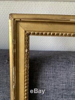 Beau Cadre bois sculpté doré Epoque Louis XVI 18 Eme Feuillure 50,5 / 39 Cm