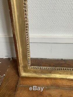 Beau Cadre bois sculpté doré Epoque Louis XVI 18 Eme Feuillure 67 / 53 Cm
