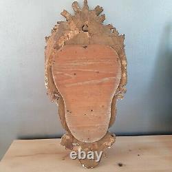 Beau Grand cadre 18 eme Christ bois doré sculpté