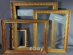 Beau cadre ancien bois & stuc doré feuille d'or 41x35 cm, Bel état SB