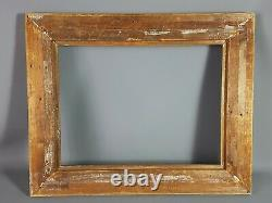 Bel ancien cadre en bois & stuc doré à la feuille 52x42 cm, feuillure 40x30