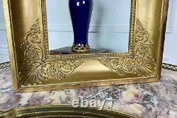 CADRE A PALMETTES D'EPOQUE EMPIRE RESTAURATION XIXe (33,5 x 25 cm)