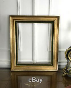 CADRE ANCIEN EN BOIS DORÉ AVEC UNE MARIE LOUISE POUR PEINTURE DE 55,5 X 46,5 cm