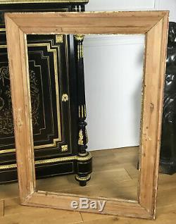 CADRE ANCIEN EN BOIS ET STUC DORÉ POUR PEINTURE 85,5 cm x 57,5 cm