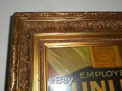 CADRE ANCIEN EN BOIS ET STUC DORE. XIX°. Peinture, huile, aquarelle, dessin