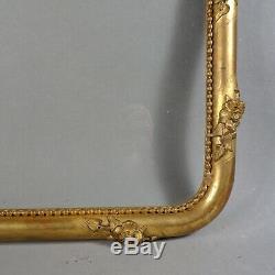 CADRE BAGUETTE BOIS STUC DORÉ FEUILLE NAP III feuillure 44 x 35 cm