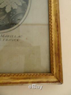 CADRE BAGUETTE EN BOIS SCULPTE ET DORE. XVIII°. Gravure, Peinture, aquarelle, dessin