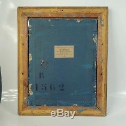 CADRE BOIS STUC DORÉ FEUILLE D'OR XIXe feuillure 27 x 21,5 cm