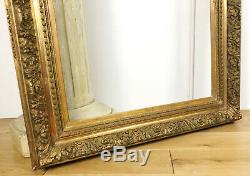 CADRE / ENCADREMENT DU XIXe (GRAND MODÈLE) EN BOIS ET STUC DORÉ (89x69,5cm)