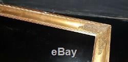 CADRE Empire Restauration Bois doré à la feuille XIXème pour tableau 53.5x48.5