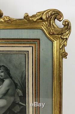 CADRE GRAND MODELE DU 19 eme STYLE LOUIS XV EN BOIS SCULPTÉ DORÉ A L OR