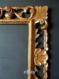CADRE ITALIE BOIS SCULPTÉ DORÉ 48 x 38 cm proche de 8F FRAME Ref C656