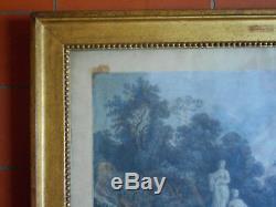 CADRE LOUIS XVI EN BOIS SCULPTE ET DORE. XVIII°. Gravure, Peinture, aquarelle, dessin