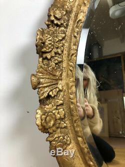 CADRE / MIROIR D'ÉPOQUE LOUIS XIV EN BOIS DORÉ ET SCULPTÉ DU XVIIIe (83x70cm)