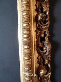 CADRE XIX XX à cassetta DORÉ 41 x 27 cm 6P FRAME Ref C659