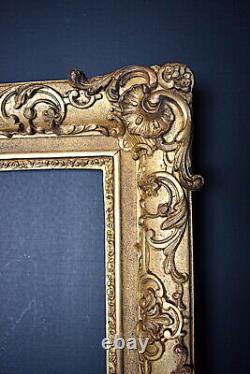 CADRE XIX ème style Louis XV 27 x 22 cm 3F FRAME Ref C762