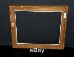CADRE ancien doré clefs et canaux Epoque XIXème bois pour tableaux 49 x 38 cm 8F