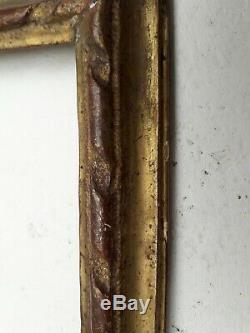 CADRE bois doré XVIIIè LOUIS XVI feuille d'or 18è