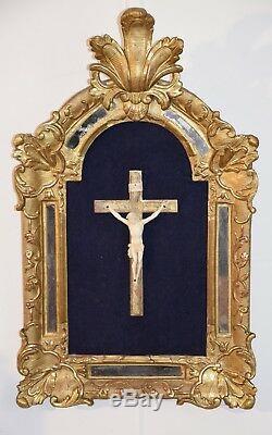 CHRIST DANS CADRE DORE à PARCLOSES, XVIIIème