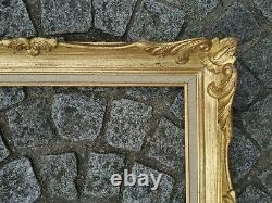 Cadre 10F bois montparnasse doré feuillure 55 cm x 46 cm frame peinture miroir