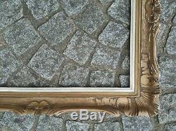 Cadre 12F bois montparnasse doré feuillure 61 cm x 50 frame photo peinture