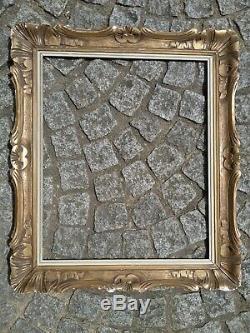 Cadre 12F bois montparnasse doré feuillure 61 cm x 50 frame photo peinture (2)