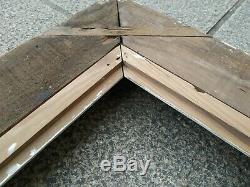 Cadre 20F montparnasse bois patiné feuillure 73 cm x 60 cm peinture gravure