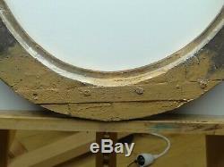 Cadre Ancien Ovale en bois sculpté et doré XVIII à restaurer