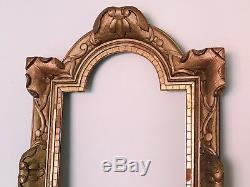 Cadre Ancien/cadre Doré/Bois Sculpté À La Feuille/louis XIV /antique Frame/17em