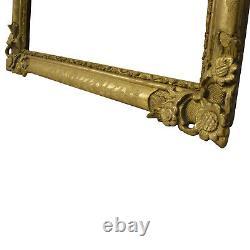 Cadre Ancien de 1800-1850 en bois doré 61 x 50 cm à l'intérieur