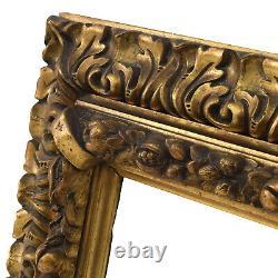 Cadre Ancien de 1850-1900 en bois Feuillure 33 x 24 cm
