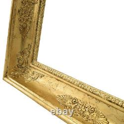 Cadre Ancien de 1850-1900 en bois doré 35,5 x 24,5 cm à l'intérieur