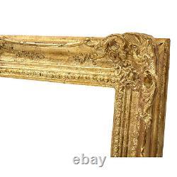 Cadre Ancien de 1896 en bois doré 71 x 51 cm à l'intérieur