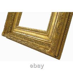 Cadre Ancien de 1900 en bois doré 25 x 20 cm à l'intérieur