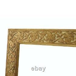 Cadre Ancien de XIXe en bois doré a la feuille Feuillure 61x51,5 cm