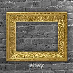 Cadre Ancien de XIXéme en bois doré Feuillure 48x35 cm