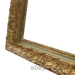 Cadre Ancien doré de peinture de 1900 en bois 41,5x33 cm à l'intérieur
