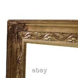 Cadre Ancien doré de peinture de 1900 en bois 55x33,5 cm à l'intérieur