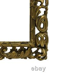 Cadre Ancien en bois ajouré et doré du XIXéme siécle 23,5x19,5 cm à l'intérieur