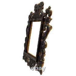 Cadre Ancien en bois ajouré et doré du XIXéme siécle 26x20 cm à l'intérieur