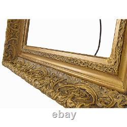 Cadre Ancien en bois decoré et doré 41 x 33 cm à l'intérieur