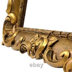 Cadre Ancien en bois doré avec ornements floraux 55 x 43 cm à l'intérieur