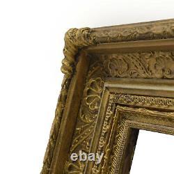 Cadre Ancien en bois orné du 1900 20,5x14,5 cm à l'intérieur