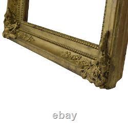 Cadre Ancien en bois orné et doré 37x25 cm à l'intérieur