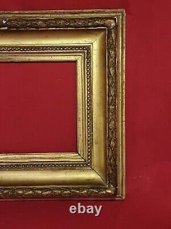 Cadre Ancien en bois stuc doré, Napoléon III XIX ème s