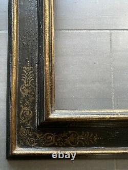 Cadre Antique A Cassetta, Bois Dorè, Laquè Xvième/xviième Siècle