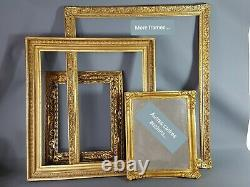 Cadre Art nouveau Jugenstil, bois & stuc doré 63x53 cm feuillure 50,5x40,4cm SB
