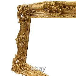 Cadre Baroque Ancien de 1850 en bois doré Feuillure50,5x40 cm