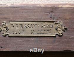 Cadre Bois Stuc doré ancien 19e style Barbizon estampillé P. HUSSON Paris 8F